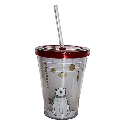 Starbucks original tumbler Polar Kids Collection Poalr Bear Eisbär Weihnachten Kaltgetränkebecher (Rosa 16 Ounce Tumbler)