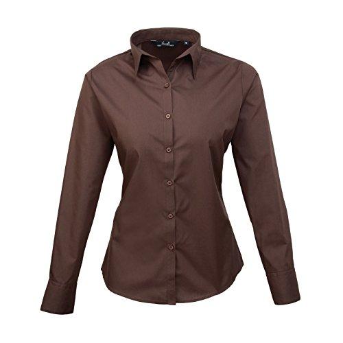 Premier dreambase-camicia a maniche lunghe in Pope Line Brown