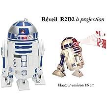 Reloj despertador Star Wars–R2-D2–Parle, Avance, cabeza pivotante, proyección de la hora en el techo.–Patines *