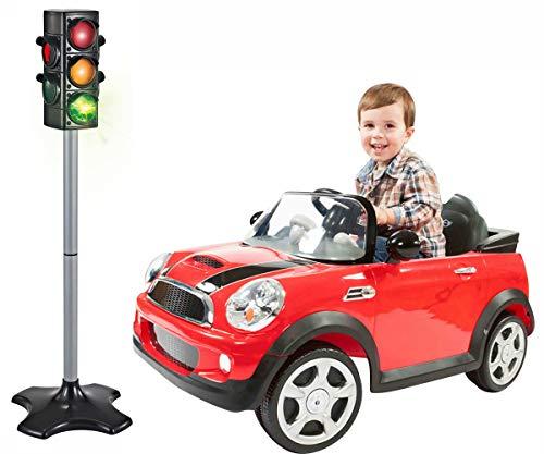 (Brigamo Spielzeug Ampel mit Lichtwechsel für Auto- und Fußgängerverkehr)