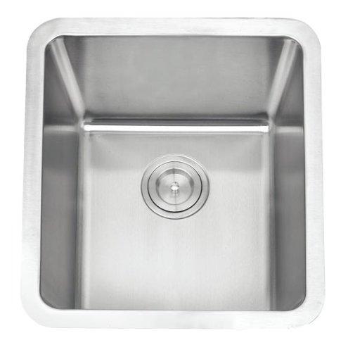 Grand Taps - Lavello da cucina in acciaio INOX spazzolato, A01-bs