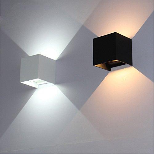 Würfel-justierbare Oberfläche brachte geführte Beleuchtung im Freien, geführtes Wand-Licht im Freien, herauf hinunter geführte Wand-Lampe, Schwarzes, kühles Weiß an