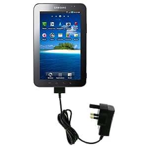 Kit Chargeur Compatible Galaxy Tab 8.9, Galaxy Note 10.1, Galaxy Tab, Galaxy Tab 2 7.0, Galaxy Tab 10.1, Galaxy Tab 2 10.1 and Galaxy Tab 7.7 - Noir - Livré avec Prise Anglaise