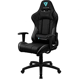 ThunderX3 EC3, siilla gaming tecnología AIR, reclinable, cojín lumbar, negro
