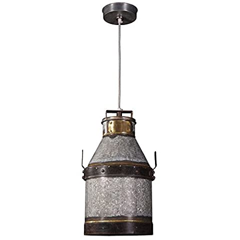 Kenroy Home 93046GI Galvanized Iron Cudahy Pendant with Bronze Accents by Kenroy Home