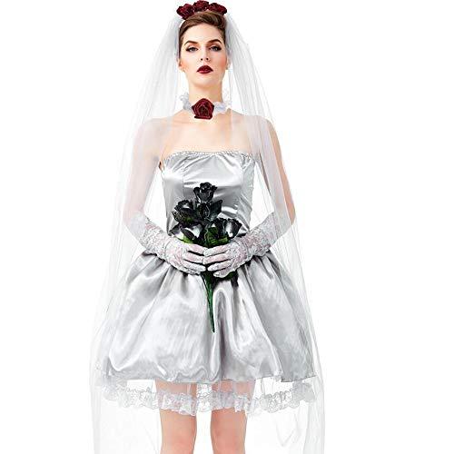 Kind Kostüm Ghost Bride - Halloween Kostüm Adult Terrorist Vampire Kostüme Adult Ghost Bride Eltern-Kind-Kostüm Halloween Kostüm Masquerade Bar Cosplay,L