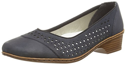 Rieker 48285 Women Closed-toe Damen Pumps Blau (pazifik / 14)