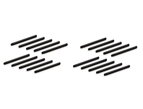 Schwarze Ersatz-Stiftspitzen für Wacom Bamboo, für Zeichen-Tablet-Stylus der CTE-, MTE-, CTL-, CTH-Serien schwarz Schwarz  20 pcs