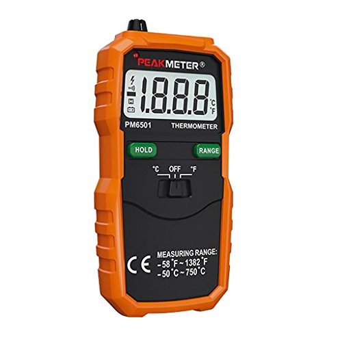 Sharplace Digital Thermometer Temperatur Tester mit Typ K Thermocouple Sensor Probe