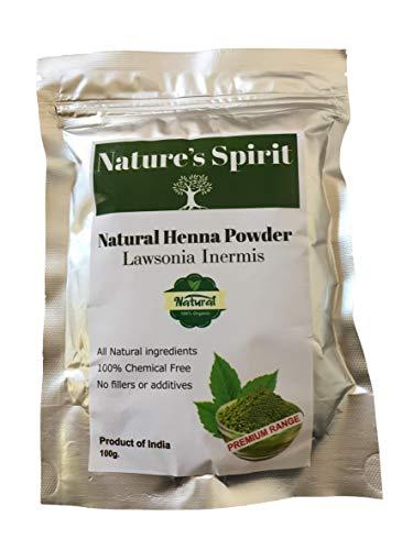 Natürliches Henna Lawsonia Inermis Pulver voll zertifiziert 100g Haarzustand Glanz Farbe Chemiefrei Exportierqualität - Natürliche Henna-pulver