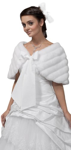 MGT-Shop Brautcape Cape E22, Damen, ivory, one size