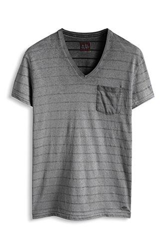 edc by ESPRIT Herren T-Shirt Slim Fit Schwarz (Black 001)