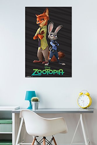 "Trends International RP14265 Zootopia Partners Wall Poster, 22"" x 34"""