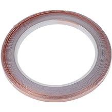 SODIAL(R) Cinta de cobre - 5 mm (longitud 50 pies)