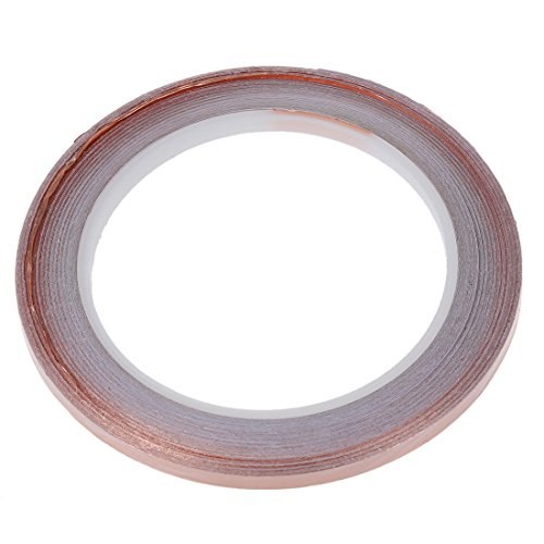 SODIAL(R) Cinta de cobre - 5 mm (longitud 50 pies)