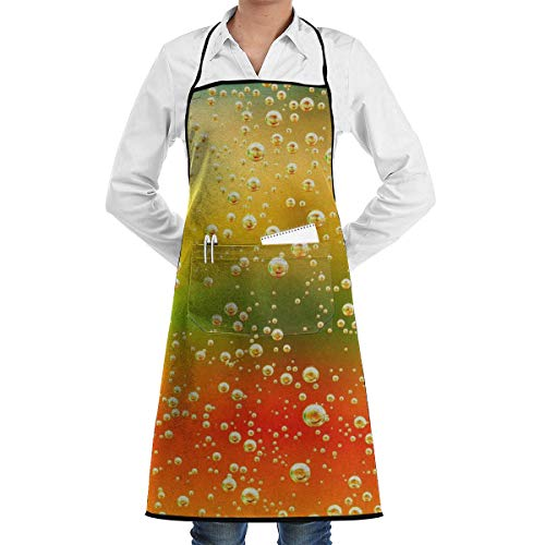 Coloured Juice Soda Bib Apron Chef Apron - with Pockets for Men and Women Prossional Gardening Gifts