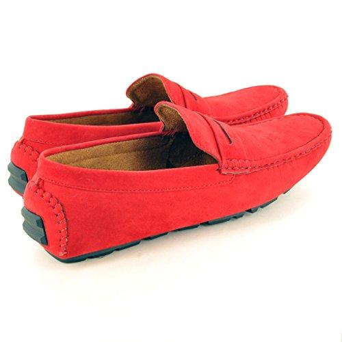 Mocassins décontractés pour homme, Chaussures de conduite. red