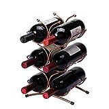 Madaye Europea vino di ferro rosso mensola vino spettacolo stand 21*16*35.5cm