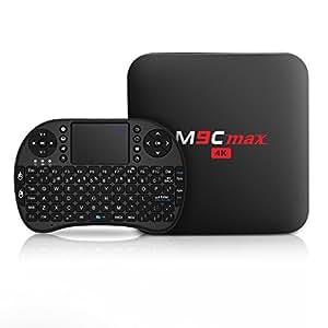 Bqeel M9C Max smart Android TV Box /Wireless Mini tastiera /Quad Core/ S905x 2GB 16GB/4K / WiFi /DLNA Smart TV Box