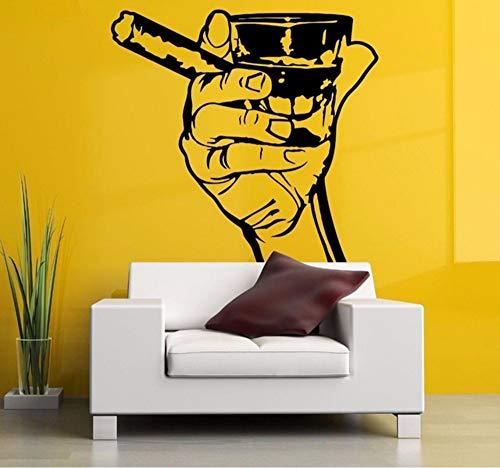 Hanjiming Hand Schuss Zigarre Poster Abnehmbare Wandaufkleber Für Wohnzimmer Mode Stil Kunst Dekor Vinyl Wandtattoos Schlafzimmer Wandbilder 57 * 60 Cm (Zigarren Ist Ein Junge Es)