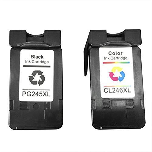 JesseBro76 Nicht-OEM-PG 245-kompatible Tintenpatronen für Canon 246XL 245XL schwarz - 245 Tintenpatrone Canon