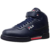 Fila Men's f-13v lea/syn Fashion Sneaker, Navy/White Red, 8 M US