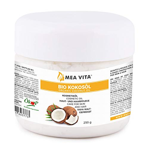 MeaVita Bio Kokosöl, nativ - 100% reines kaltgepresstes Öl, 1er Pack (1 x 250g)