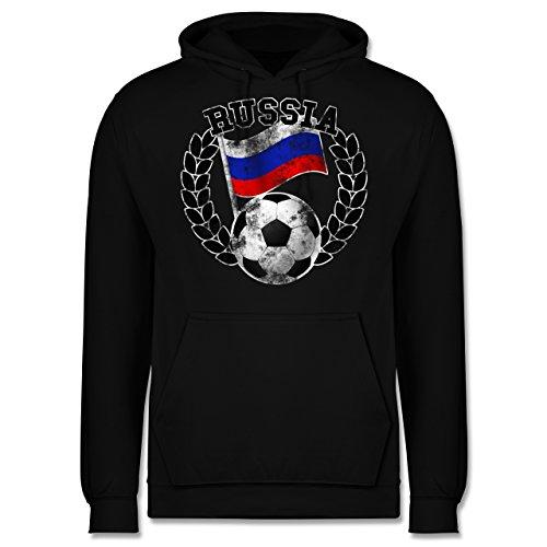 EM 2016 - Frankreich - Russia Flagge & Fußball Vintage - Männer Premium  Kapuzenpullover / Hoodie