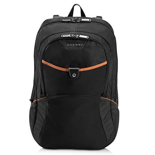 Everki Glide - Laptop Rucksack 15 bis 17 Zoll, leicht, extra Stoßfest zum Schutz hochwertiger Notebooks mit viel Platz fürs Zubehör ergonomisches Design, Schwarz