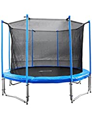 FA Sports Gartentrampolin mit Sicherheitsnetz Flyjump Monster, blau, 305 cm, 1220