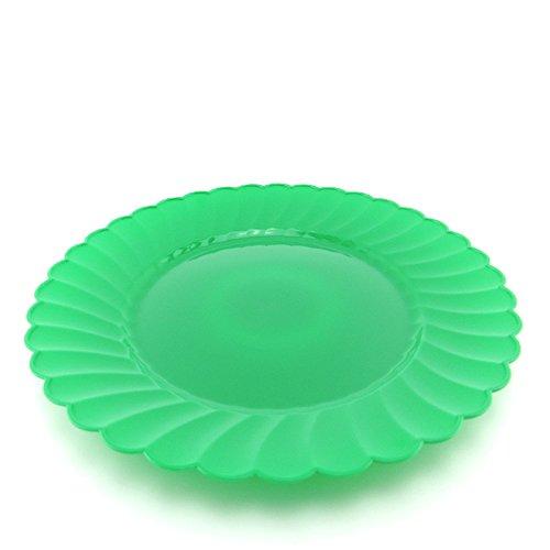Verfügbare air Service Geschirr, runder Teller, Hartplastik Grill Platte, Steak Kuchen, Western Dish, Obst essen, Große Gras grün