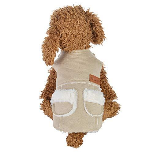Amphia - Haustier Baumwollkleidung Hundeweste,Hundehaustierkleidung Weste Warmer Fleece-Welpen-Mantel-Kleid-Welpen-Jacke