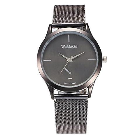 Femme montre, Fuibo 2017nouveaux Mode femelle horloges montre à quartz de luxe Femme en maille Sangle montre a