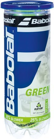 Play And Stay Green Felt Tennis Balls by Babolat (Play-und Stay-tennis-ball)