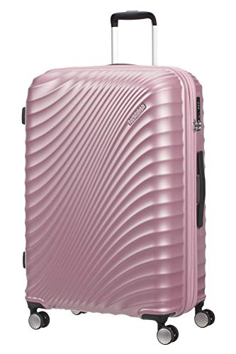 American Tourister Jetglam - Spinner Large Expandable Valigia, 77 cm, 109 liters, Rosa (Metallic Pink)