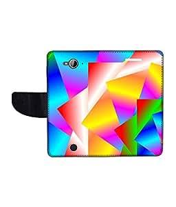 KolorEdge Printed Flip Cover For Acer Liquid Z530 Multicolor - (1478-50KeMLogo12363AcerZ530)