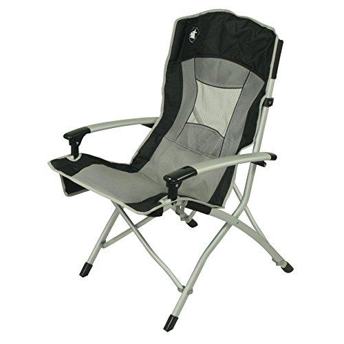10T Big Boy - Alu Camping-Stuhl solider Hochlehnermit Maxi Polster-Sitzfläche faltbar