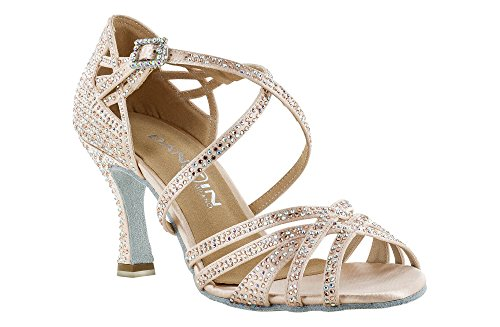 DAN(C)IN Dancing Shoes Limited Edition Veronica Arrais in face Powder Pink  Satin ... 24b0b45ddef