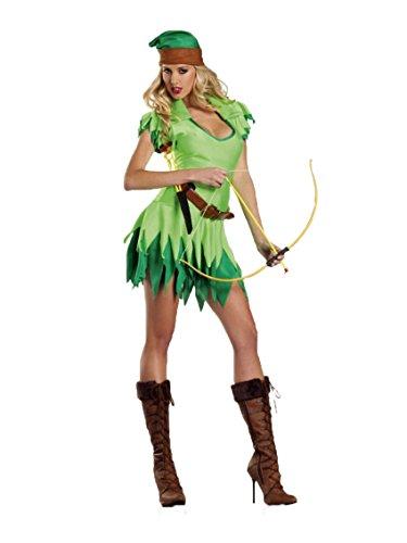 Aimerfeel Robin Hood Damen ächten Kostüm Kostüm Größe 36-40