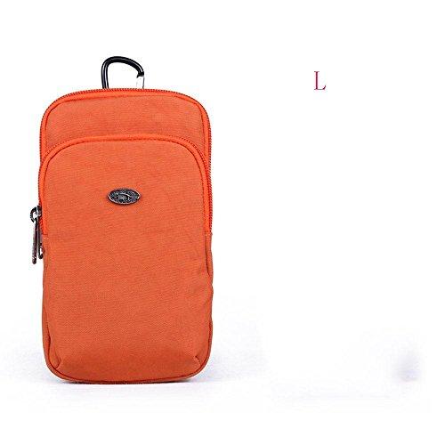 BUSL Wandern Hüfttaschen Frau Außenraum-Handy kleinen Geldbeutel Schulter diagonal Taschen-Tasche b