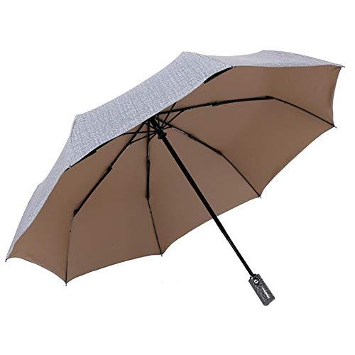 Wovemster Regenschirm Taschenschirm Automatik Schirm Sonnenschirm Anti-Milben-Schirm Stabiler Windsicher Leicht Kompakt Auf-Zu-Automatik Tasche & Reise(Cowboy Asche)