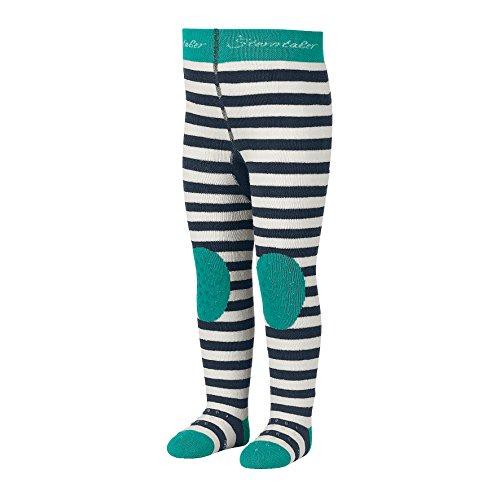 Sterntaler Krabbelstrumpfhose Bär für Kleinkinder, ABS-Sohle, Alter: 2-3 Jahre, Größe, 92, Blau (Marine)