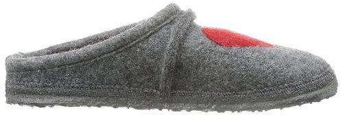 Pantofole Da Donna Cuore Grigio (grigio Medio)