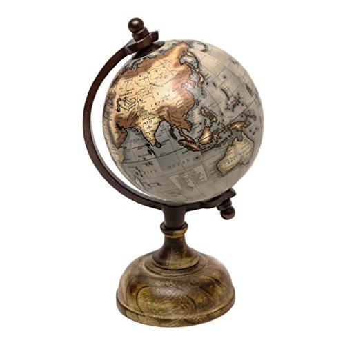 Globus Weltkugel Antik Stil Wandkarte Welt Weltkarte Historisch. Von Haus der Herzen®