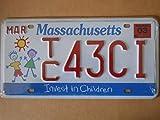 Fabbri Plaque immatriculation américaine Nouvelle 31x 16cm Reproduction Massachusetts USA