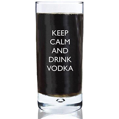 283,5ml Blasen-Boden Hi-Ball-Glas mit Keep Calm And Drink Vodka Design Hi-ball Gläser