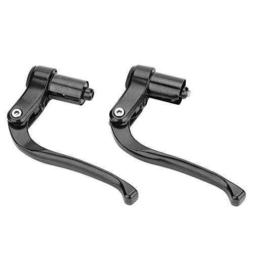 Dilwe 1 Paar Bremshebel, Vollaluminiumlegierung Bremshebel Lenker für Mountainbike Rennrad(Schwarz) -
