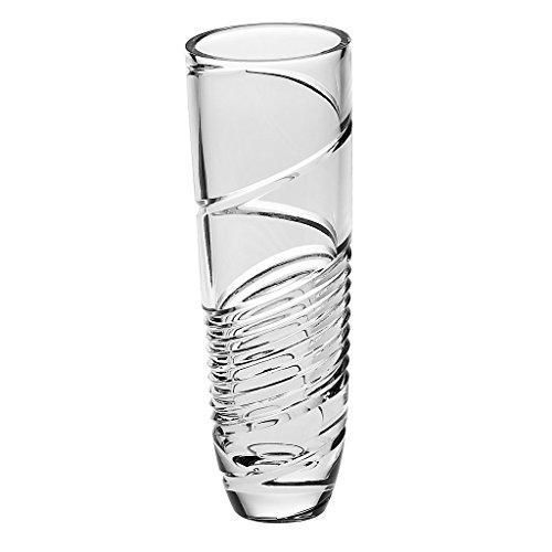 CRISTALICA VaseBouquet Vase Blumenvase Racing Imperial Transparent H 21,7 cm Kristallglas Tischvase Crystal Glass Vase