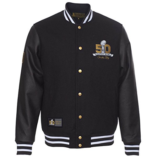 Majestic Superbowl 50College giacca-Edizione Limitata Black L