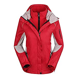 EXCLVEA Damen Mountain Waterproof Skijacke Windproof Rain Jacket Rot, Pink, Schwarz S-XXL Outdoor Sport Skimantel (Farbe : Rosa, Größe : XXL)